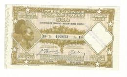 Loterie Coloniale 19e Tranche 1936    50fr.     Koloniale  Loterij 19de Tranche 1936  50fr - Billets De Loterie