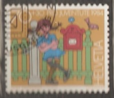 Switzerland: Pro Juventute, 1 Used Stamp From A Set, Figures From Children Books, 1984, Mi#1285 - Pro Juventute