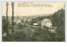 72.ST LEONARD DES BOIS.ROUTE DE SAINT CENERY.ENTREE DU BOURG.TOURING HOTEL - Saint Leonard Des Bois