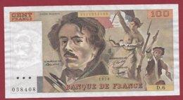 "100 Francs ""Delacroix"" 1978----VF/SUP--ALPH.D.6 - 1962-1997 ''Francs''"