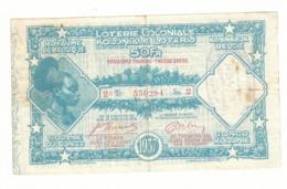 Loterie Coloniale 2e Tranche 1937    50fr.     Koloniale  Loterij 2de Tranche 1937  50fr - Billets De Loterie