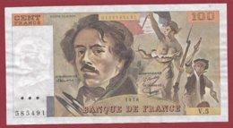 """100 Francs """"Delacroix"""" 1978----F/TTB+--ALPH.V.5 - 1962-1997 ''Francs''"""