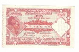 Loterie Coloniale 6e Tranche 1937    50fr.     Koloniale  Loterij 6de Tranche 1937  50fr - Billets De Loterie