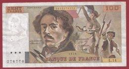 """100 Francs """"Delacroix"""" 1979----F/TTB+--ALPH.L.14 - 1962-1997 ''Francs''"""