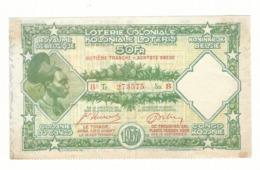 Loterie Coloniale 8e Tranche 1937    50fr.     Koloniale  Loterij 8de Tranche 1937  50fr - Billets De Loterie