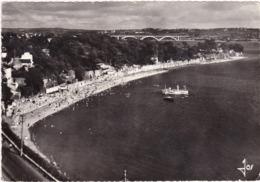Finistère : BREST : La Plage St-marc Et Le Pont De Plougastel ( C.p.s.m. - Photo Vérit. - Grand Format ) . - Brest