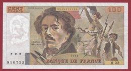 """100 Francs """"Delacroix"""" 1980----VF/SUP--ALPH.M.22 - 1962-1997 ''Francs''"""