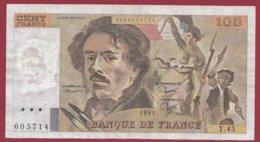 """100 Francs """"Delacroix"""" 1981----F/TTB+--ALPH.Y.45 - 1962-1997 ''Francs''"""