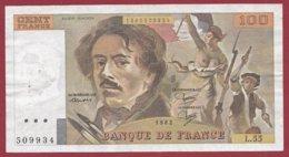 """100 Francs """"Delacroix"""" 1982----F/TTB+--ALPH.L.55 - 1962-1997 ''Francs''"""