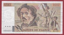 """100 Francs """"Delacroix"""" 1989----VF/SUP--ALPH.M.156 - 100 F 1978-1995 ''Delacroix''"""