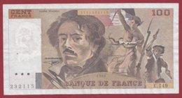 """100 Francs """"Delacroix"""" 1990----F/TTB+--ALPHE.149 - 1962-1997 ''Francs''"""