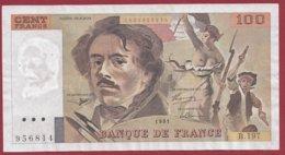 """100 Francs """"Delacroix"""" 1991----F/TTB+--ALPH. B-197 - 1962-1997 ''Francs''"""