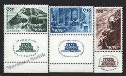 Israel 1965 Yv. 268-70, Ancient Palace Of Masada – Tab - MNH - Israel