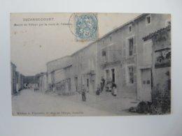 HAUTE MARNE SUZANNECOURT ENTREE DU VILLAGE PAR LA ROUTE DE POISSONS - Francia