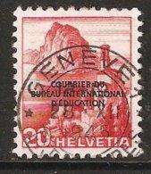 BIE Zu  5 / Mi 5 / YT 252 Obl. Centrale Voir Description - Servizio