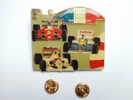 SUBERBE Big Pin's , Auto F1 , Formule 1 , Grand Prix Magny Cours , Ferrari , Honda , Renault , ELF , Shell , Goodyear - F1