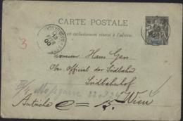 Entier Groupe 10c Noir S/ Vert Madagascar Dépendances CAD Fort Dauphin 13 Fev 1900 Pour Autriche - Madagascar (1889-1960)