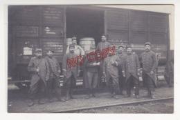Au Plus Rapide Carte Photo Ravitaillement En Vin Alcool Du Front Excellent état - Guerre 1914-18