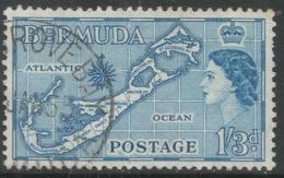 Bermuda. 1953-62 QEII. 1/3 (Die I) Used. SG 145 - Bermuda