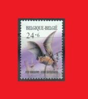 Belgium 1987, Lesser Horseshoe Bat, Chauve-souris, Kleine Hufeisennase, Used - Bats