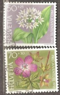 Switzerland: Pro Juventute, 2 Used Stamps From A Set, Flowers, 1991, Mi#1455-1456(2) - Pro Juventute