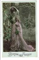 CPA-Carte Postale -France-Bonne Année Une Jeune Femme Sous Les Flocons De Neige En 1932?VM8603 - Nouvel An
