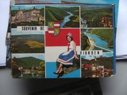 Luxemburg Luxembourg Vianden Avec Femme - Vianden