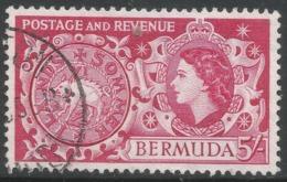 Bermuda. 1953-62 QEII. 5/- Used. SG 148 - Bermuda