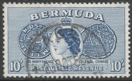 Bermuda. 1953-62 QEII. 10/- Used. SG 149 - Bermuda