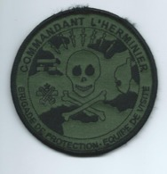 CB31 - MARINE FRANÇAISE - PATCH  AVISO CDT L'HERMINIER - Brigade De Protection- Equipe De Visite - Patches
