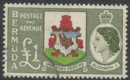 Bermuda. 1953-62 QEII. £1 Used. SG 150 - Bermuda