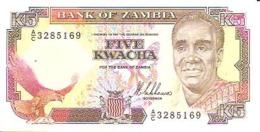 Zambia P-30 5 Kwacha 1989 UNC - Zambia