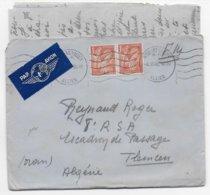 IRIS - 1945 - ENVELOPPE FM Par AVION De MOULINS SUR ALLIER => TLEMCEN (ALGERIE) - 1939-44 Iris