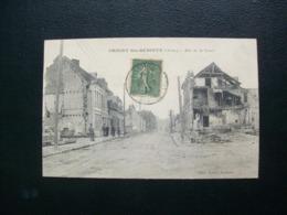 Carte Postale Ancienne D'Origny-Sainte-Benoîte - Rue De La Croix - Other Municipalities