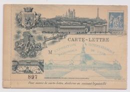 ENTIER SAGE - EXPOSITION INTERNATIONALE DE LYON 1894. CARTE LETTRE NEUVE - Postal Stamped Stationery