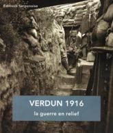 VERDUN 1916  LA GUERRE EN RELIEF  PHOTOGRAPHIE STEREOSCOPIQUE POILUS TRANCHEES - 1914-18
