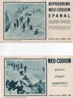 910Cr  Lot De 4 Buvards Laboratoires Bouchara Alpinisme Saussure Au Mont Blanc Chamonix - Produits Pharmaceutiques