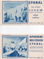 910Cr  Lot De 4 Buvards Laboratoires Bouchara Alpinisme Au Mont Blanc Chamonix Hamel Mc Gregor - Produits Pharmaceutiques