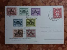 VATICANO - Sede Vacante 1939 - Serie Completa Timbrata Su Cartolina + Spese Postali - Vatican