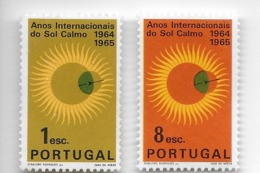 TIMBRES- STAMPS- SELLOS- FRANCOBOLLI- PORTUGAL - 1964 - ANNEE INTERNATIONALE DU SOLEIL CALM -SÉRIE DE TIMBRES NEUFS -MNH - Astrology
