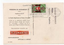 910Cr  Monaco Courrier Timbre Oblitération Pour Alger 1954 Publicité Biomarine Monte Carlo - Monaco