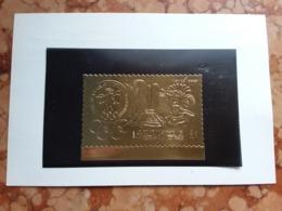 EMIRATI ARABI - SHARJAH - Olimpiadi Messico 1968 - Francobollo Su Lamina D'oro + Spese Postali - Sharjah