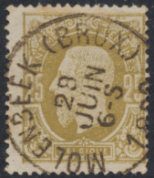 "émission 1869 - N°32 Obl Simple Cercle ""Molenbeek (Brux.)"" - 1869-1883 Leopold II"