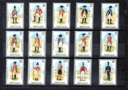 Sta. Lucia Nº 736-50 Uniformes Militares, Serie Completa En Nuevo 52,50 € - Militares