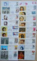 1 KILO - FRANCE - 250 ENVELOPPES 1er JOUR D ' EMISSION - FDC's - 12 SCANS - Postzegels