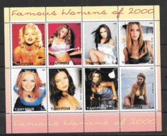 Udmurtia, Oudmourtie  Poste Locale RUSSIA - FAMOUS WOMEN OF YEAR 2000 ANNA NICOLE SMITH MARIAH CAREY JENNIFER LOPEZ  HEI - 1992-.... Fédération