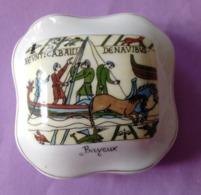 Bonbonniere Objet De Souvenir De Bayeux -  Porcelaine De Limoges Decor Main - Bon Etat - - Obj. 'Remember Of'