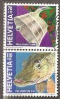 Switzerland: Pro Juventute, 2 Used Stamps From A Set, Bell, Fish, 1998, Mi#1663, 1666 - Pro Juventute