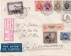 Lettre Bruxelles Via Léopoldville Retour 1930 - Poste Aérienne