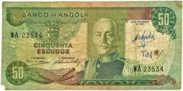 Angola - 50 Escudos - 24.11.1972 - Pick 100 - Série WA - Marechal Carmona - PORTUGAL - Angola